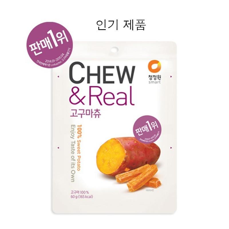 韓國空運直送CHEW Real 100 零添加地瓜條地瓜果乾60g