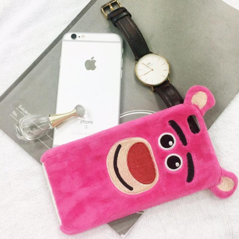 毛絨布熊抱哥手機殼IPhone6plusS 5 5 寸