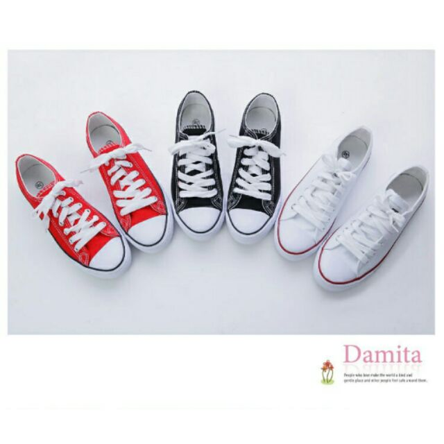 Damita 百搭 校園休閒帆布鞋3 色版型偏小~現預~