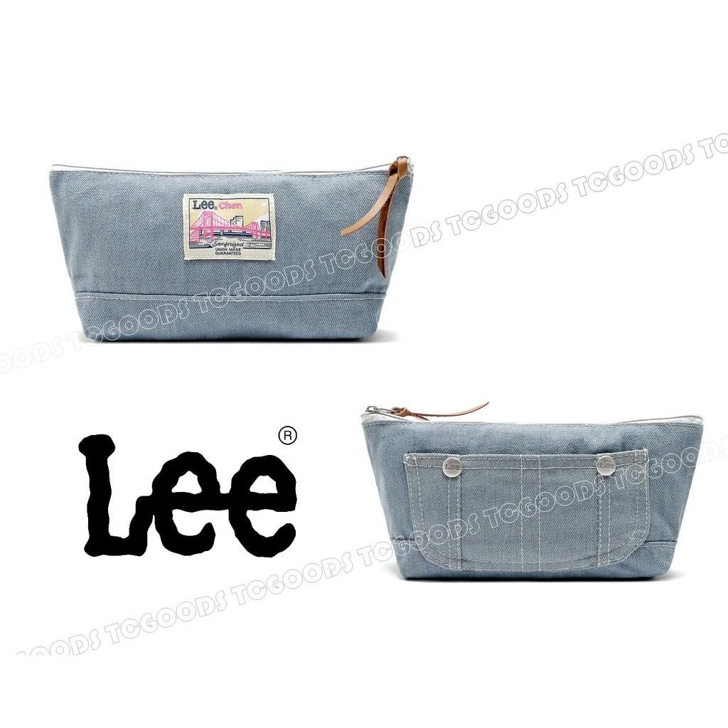~台中好物~ 雜誌附錄LEE x Cher 聯名合作牛仔 口袋 化妝包手機包筆袋刷包鉛筆盒