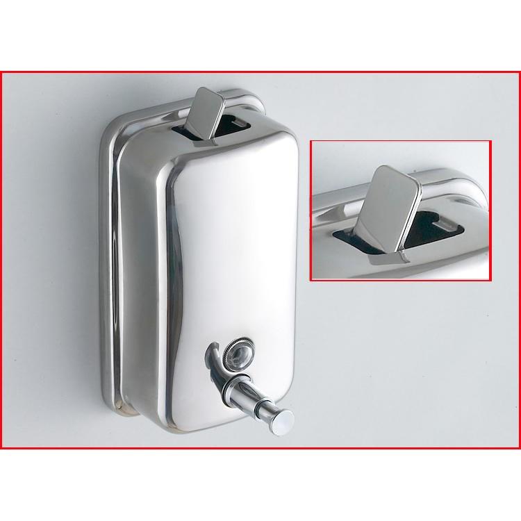 ~304 不鏽鋼手動皂液器皂液盒500ML 酒店浴室廚房壁掛式洗手液瓶~NO135 不銹鋼