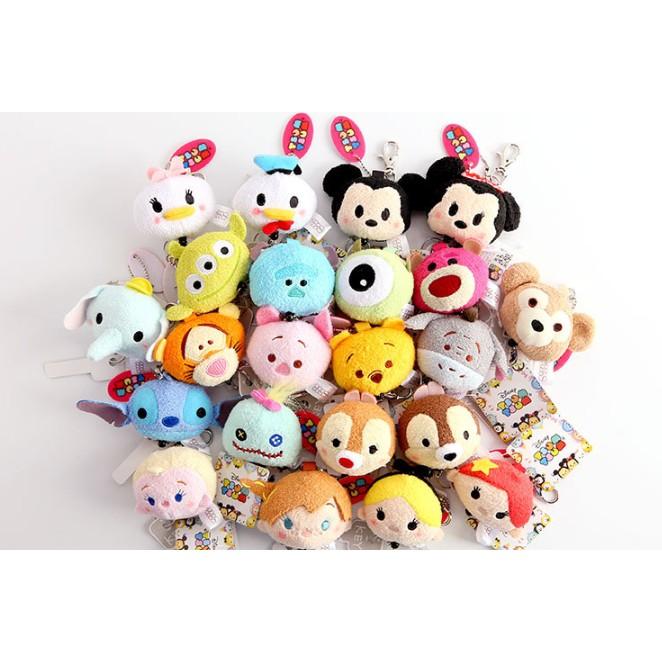 Disney 迪士系列超可愛伸縮鑰匙圈冰雪奇緣艾莎安娜tsum 鑰匙維尼米奇米妮唐老鴨黛絲