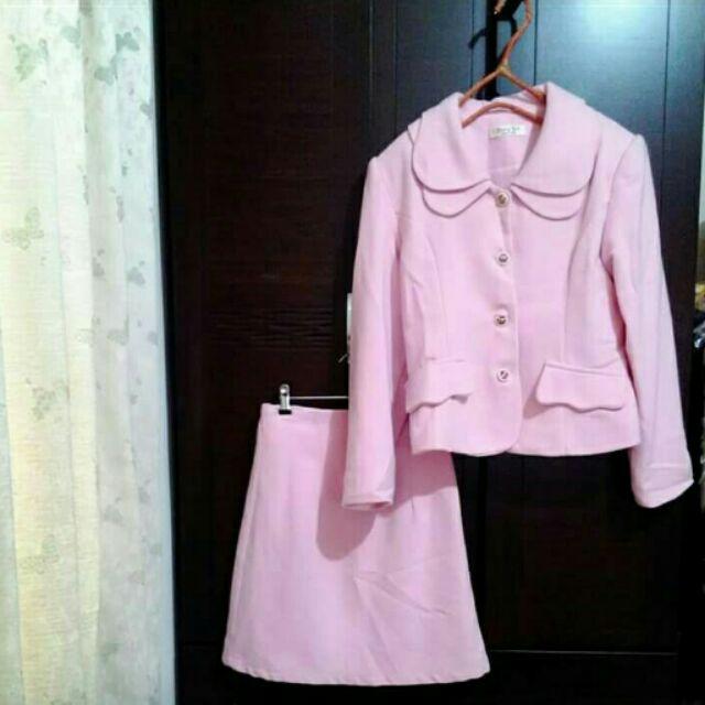 可愛粉嫩復古套裝