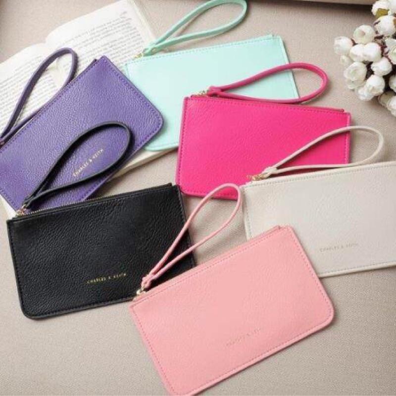 新加坡CHARLES KEITH 小CK 信封式薄型長款錢包手拿包手機包零錢包收納包大鈔包
