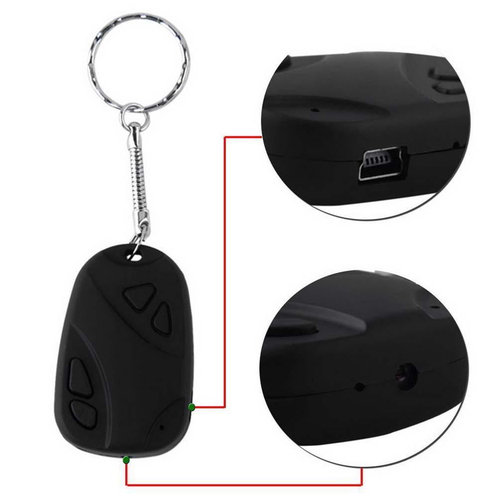 迷你808 汽車鑰匙鏈微型相機高清攝像機隱藏凸輪