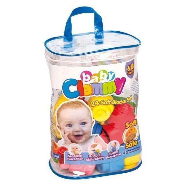 ✤泡泡窩✤~義大利Clemmy ~軟質積木新24pcs 軟積木袋嬰兒玩具彌月