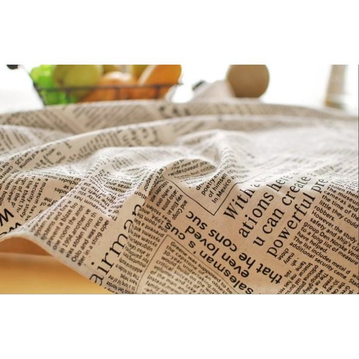 大推~復古英文郵報桌巾~復古餐墊英文郵報棉麻桌布拍照小道具/北歐雜貨/背景布