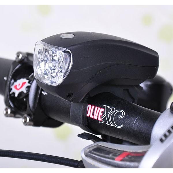 Y293 超亮5LED 自行車頭燈車前燈照明燈單車腳踏車自行車電池款夜騎安全三段可調
