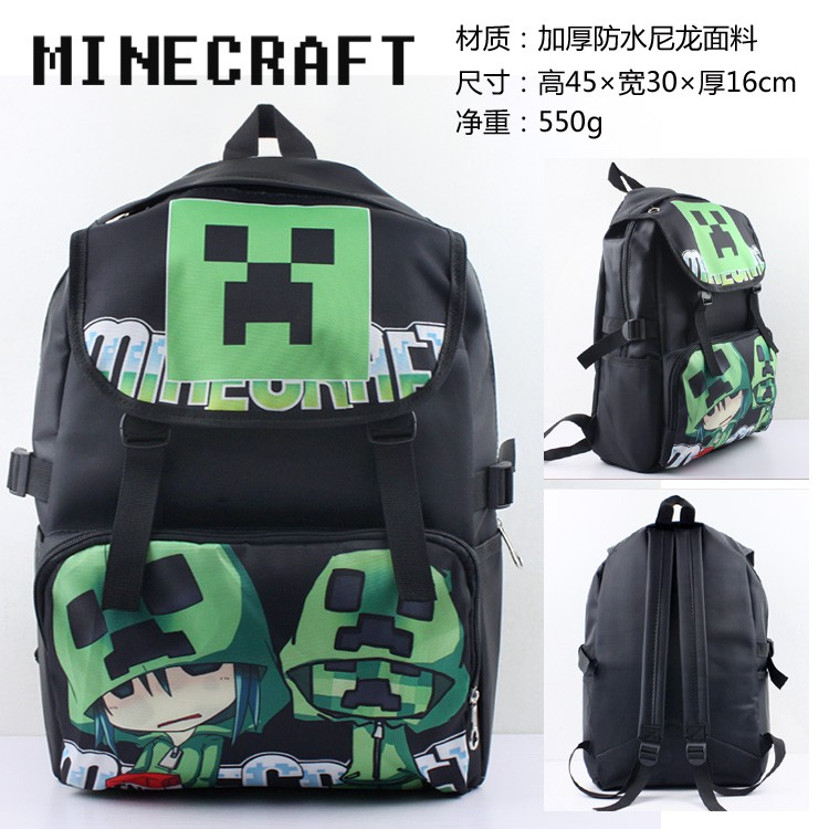 動漫遊戲我的世界Minecraft 苦力怕雙肩包背包書包cosplay 周邊收藏