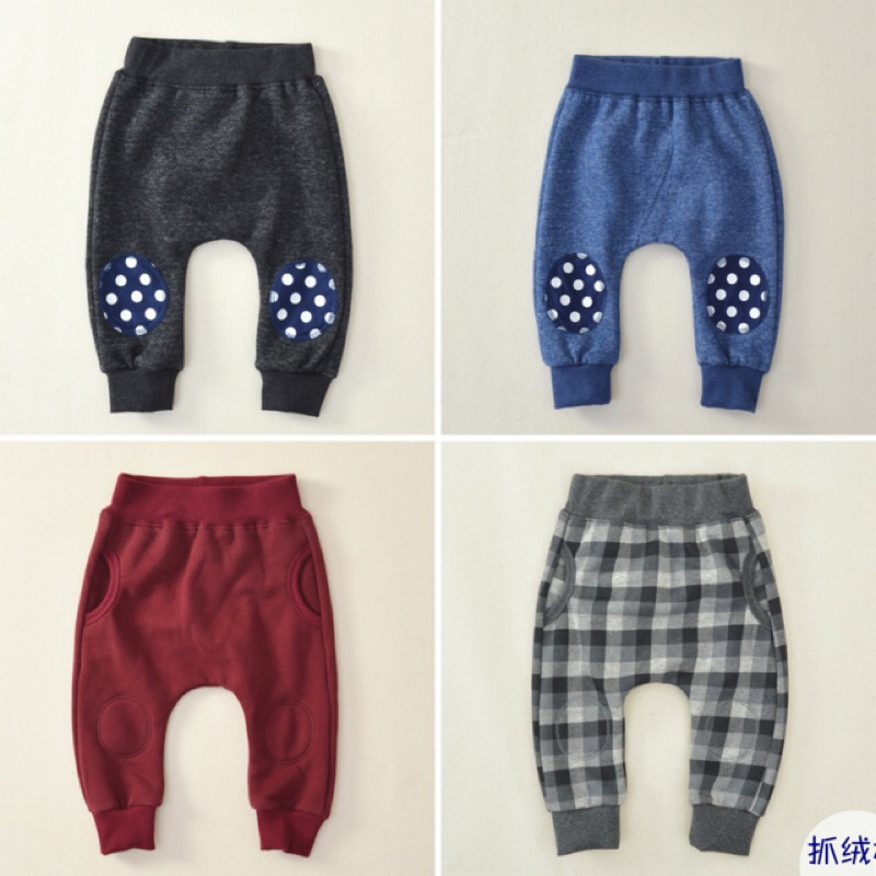 外貿柔軟棉質PP 褲牛仔褲抓絨純棉長褲童褲嬰兒寶寶兒童幼兒哈倫褲