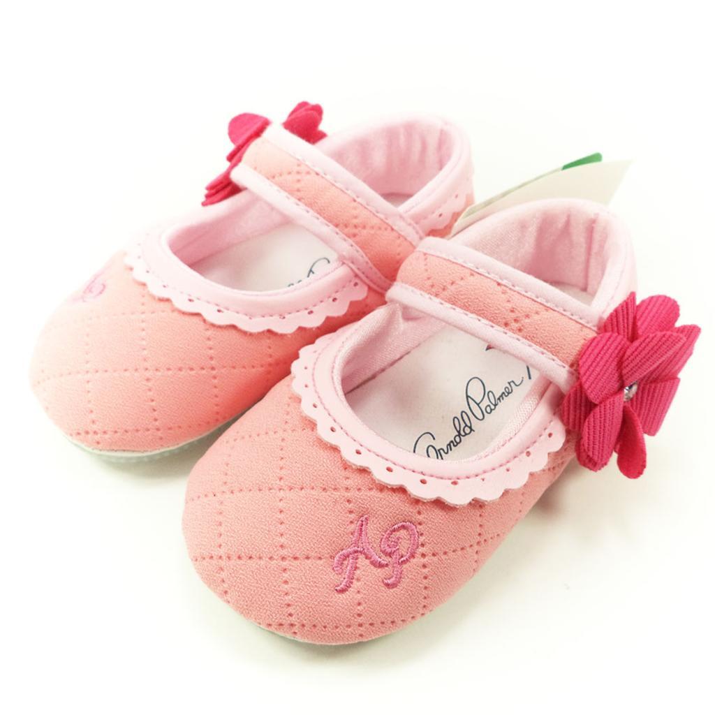 童鞋ARNOLD PALMER 雨傘牌小花軟底寶寶學步鞋專櫃正品粉色843211