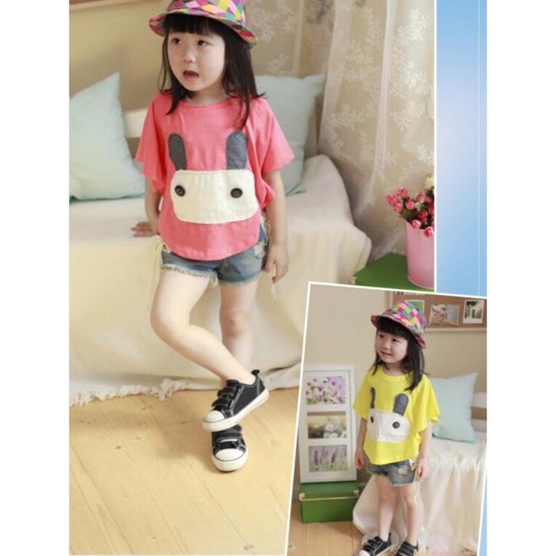 韩版小兔子短袖T 恤卡通蝙蝠衫西瓜虹