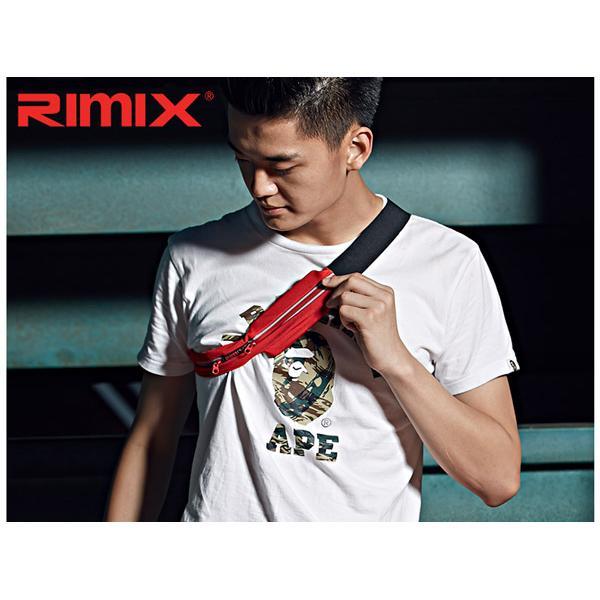Rimix 疾風雙口袋 腰包送收納袋貼身防盜防水防汗手機包口袋跑步腰包YKK 拉鍊3M 反