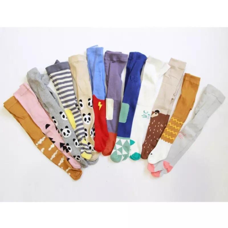 韓國ins 爆款兒童連褲襪純棉嬰兒連襪褲子 0 3 歲男女寶寶打底襪