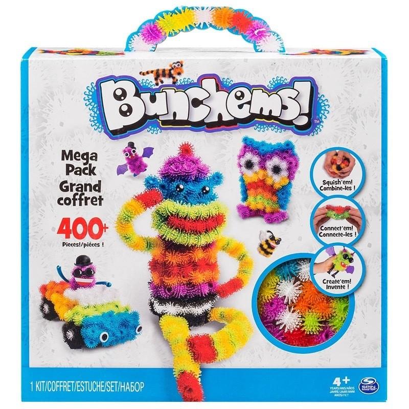 G01 美國Bunchems 百變蓬蓬捏捏球益智早教玩具彩色毛毛魔術球 無限