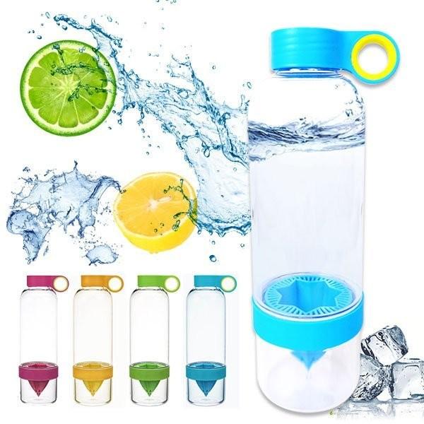 B2193 魔法纖果瓶塑膠SGS 檸檬杯榨汁機檸檬水壺泡茶壺果汁機 水壺夏日解渴