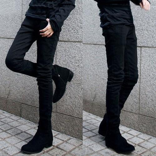 男裝 褲修身直筒青年男士長褲男款寬松男生布褲子純棉男褲