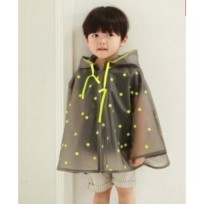 半透明兒童寶寶小孩小學生男童女童戶外雨衣防水披風黃粉