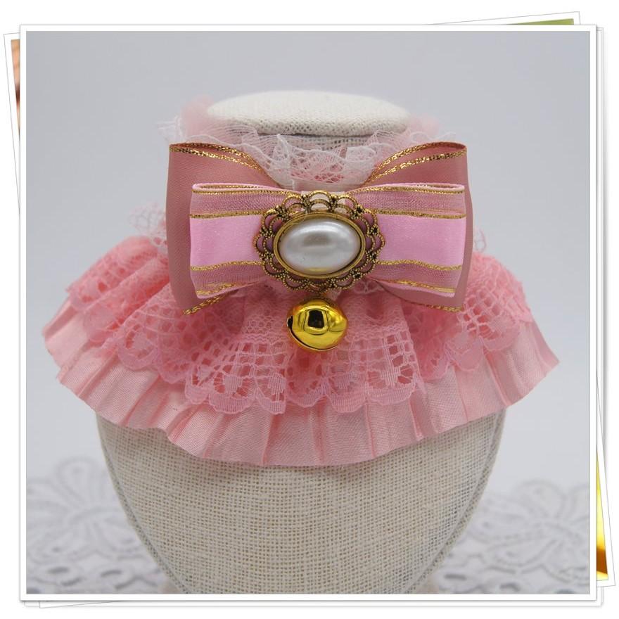 可露寵物日韓風粉色蝴蝶結寵物蝴蝶結寵物皮製牽引帶讓你的寵物成為萬眾曯目的焦點寵物用品服裝