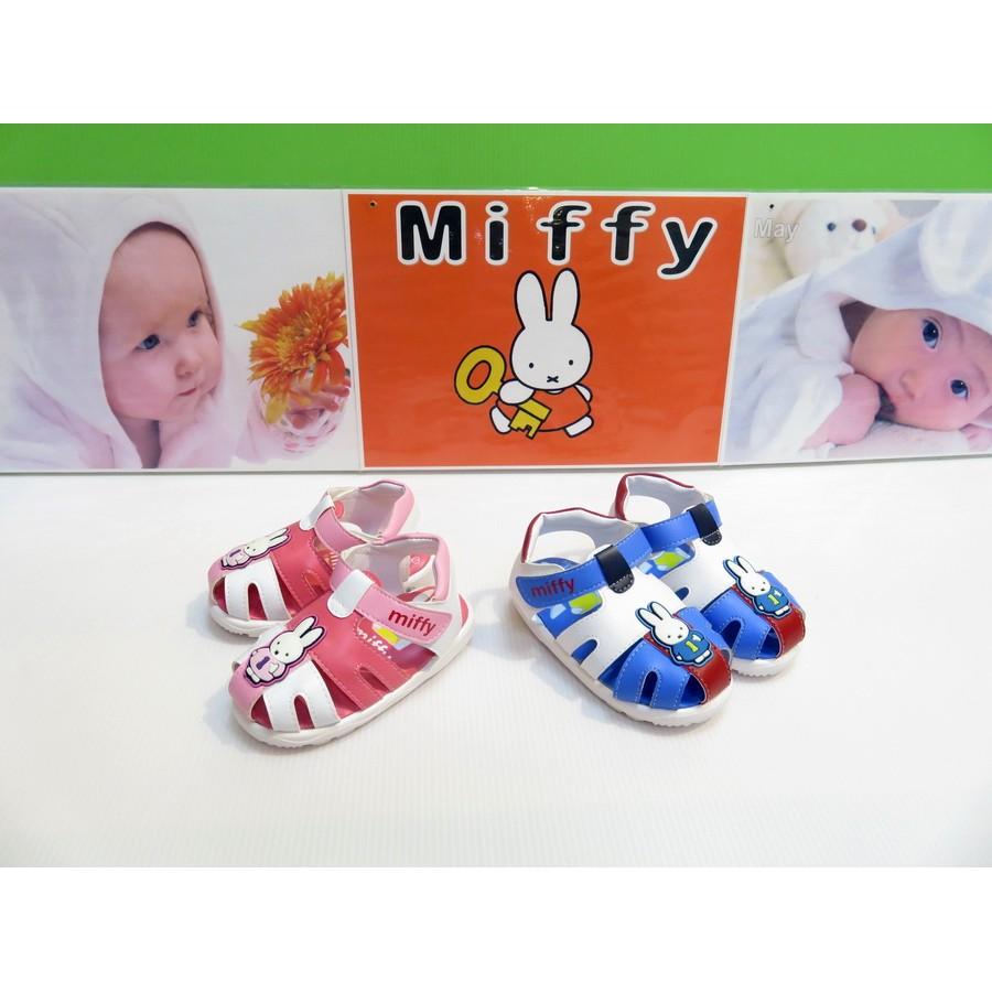 388 Miffy 米飛兔粉藍寶寶護趾涼鞋嗶嗶鞋學步鞋13 15 5 公分 388