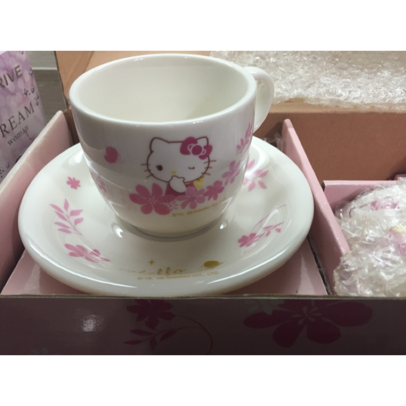 Hello Kitty 雙人咖啡杯盤附匙組