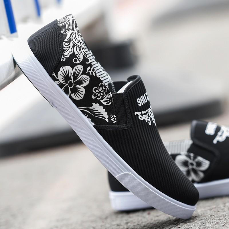 春 青春潮流休閒男鞋布鞋透氣帆布鞋英倫 懶人鞋板鞋
