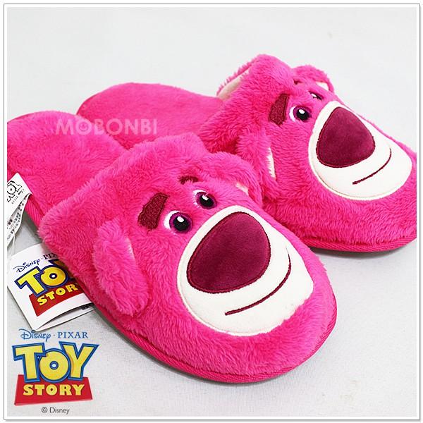 ~摩邦比~ 迪士尼熊抱哥保暖拖鞋草莓熊皮克斯暖腳拖柔軟絨毛拖鞋絨毛拖鞋綿拖 生日 聖誕 情