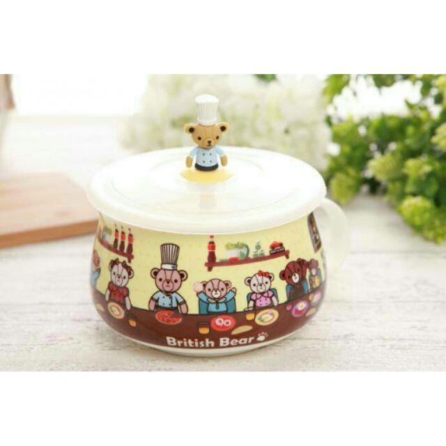 英國熊陶瓷胖胖杯組(附蓋有盒裝)850ml