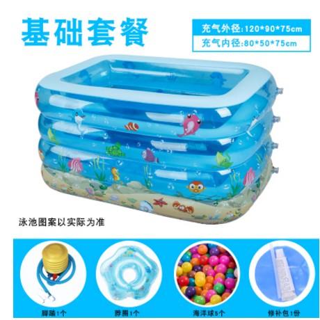 嬰兒遊泳池加高加厚保溫寶寶戲水池超大號家庭幼兒童充氣泳池韓 99