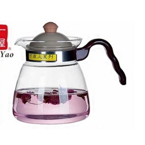 晴天咖啡☼可直火FH 007 耐熱玻璃壺1200ml 花茶壺咖啡壺泡茶壺快煮壺保溫壺瓦斯爐