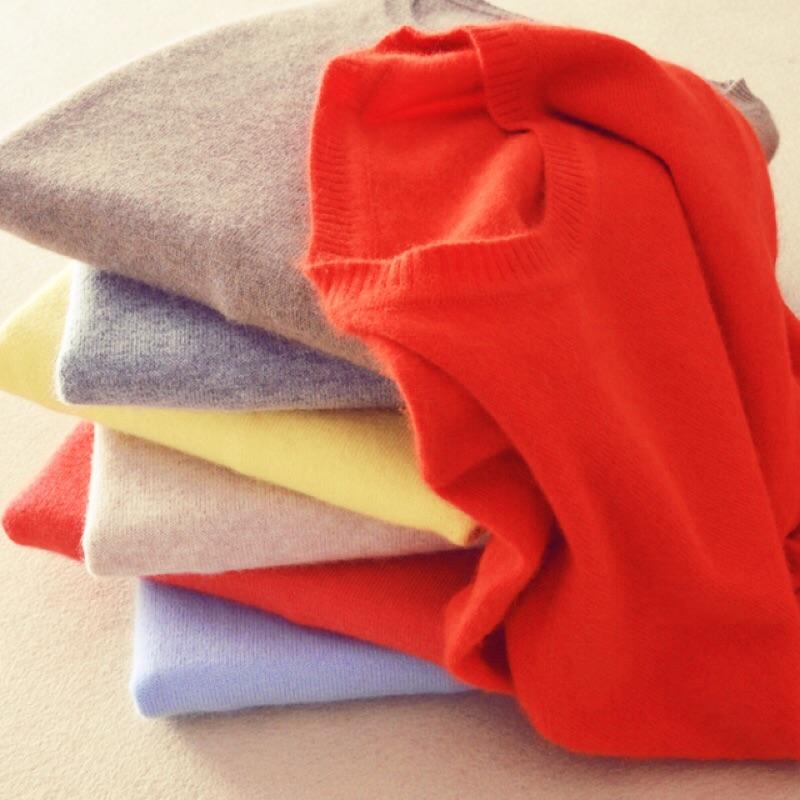 ❤️冬 ❤️羊絨衫毛衣短款修身針織衫羊毛衫