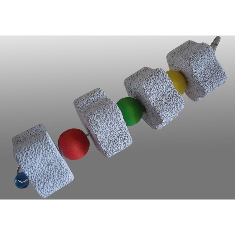 花朵火山石磨牙串磨嘴石磨牙石也可當玩具裝飾鸚鵡老鼠松鼠 以用喔
