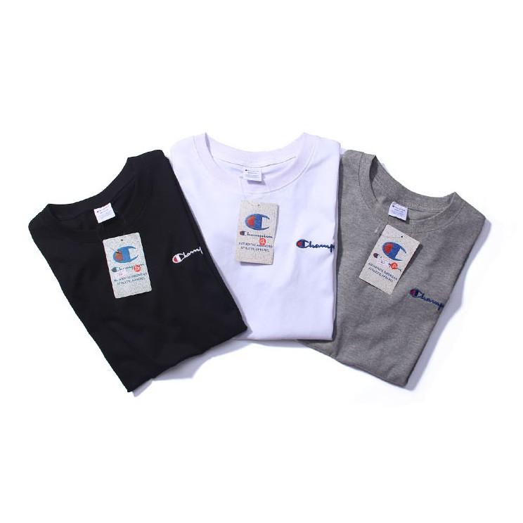 ~DUMPY ~Ch ion 冠軍日系Logo TEE 純棉短T 圓領T 恤打底刺繡百搭素