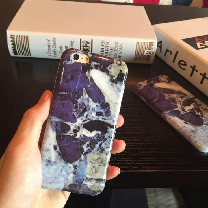日韓爆款簡約防摔亮面藍色山紋tpu 獨特全包軟殼iPhone6 6S 保護殼iPhone6