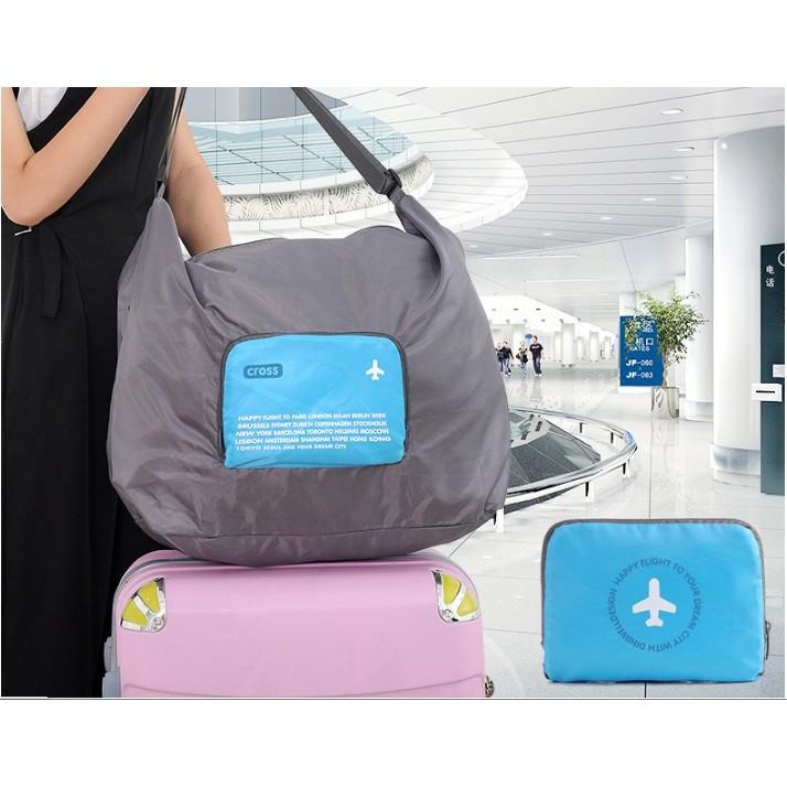 ~Dreamshop ~斜肩包肩背式旅行袋收納摺疊背包旅行袋行李箱袋手提行李袋 背包 袋
