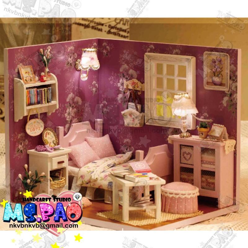 ~寶妞的玩藝窩~ 小型DIY 小屋 模型屋袖珍屋娃娃屋 情人節陽光系列甜蜜陽光