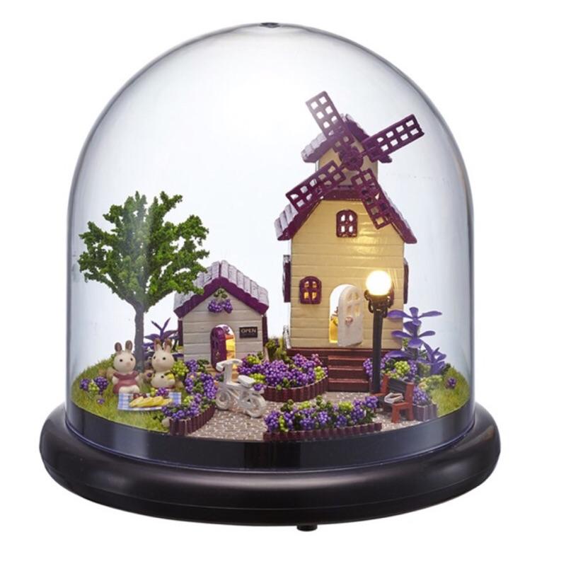 B 002 浪漫普羅旺斯紫色大風車DIY 手作~普羅旺斯小屋!甜美登場