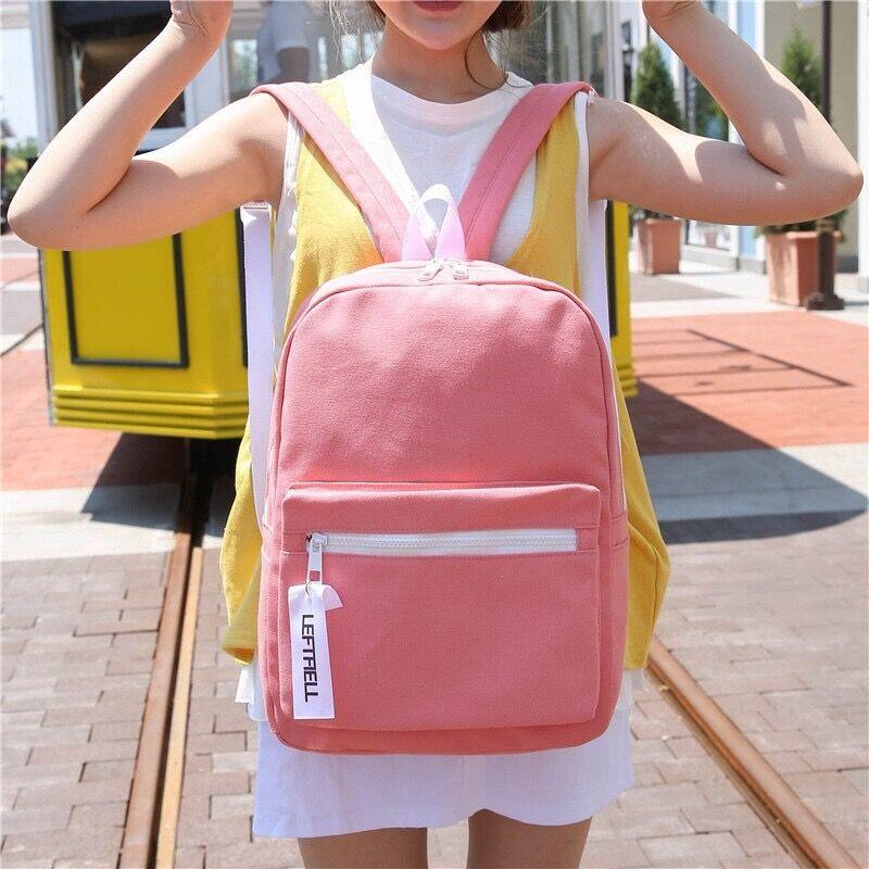 ~ ~虧本價倒計時24H ~九色帆布素色超幼質後背包~ 背包書包旅行包休閒包包包