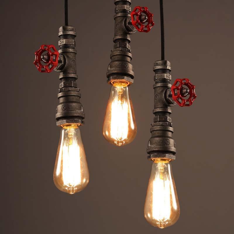 LOFT 美式鄉村工業風咖啡廳酒吧燈飾復古懷舊鐵藝 單頭水管吊燈