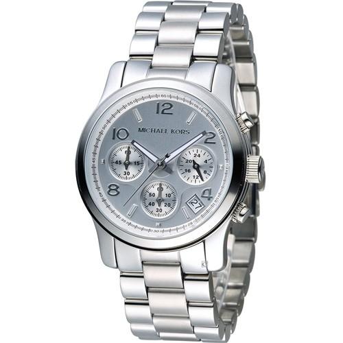 Michael Kors MK5076 三眼計時腕錶銀38mm