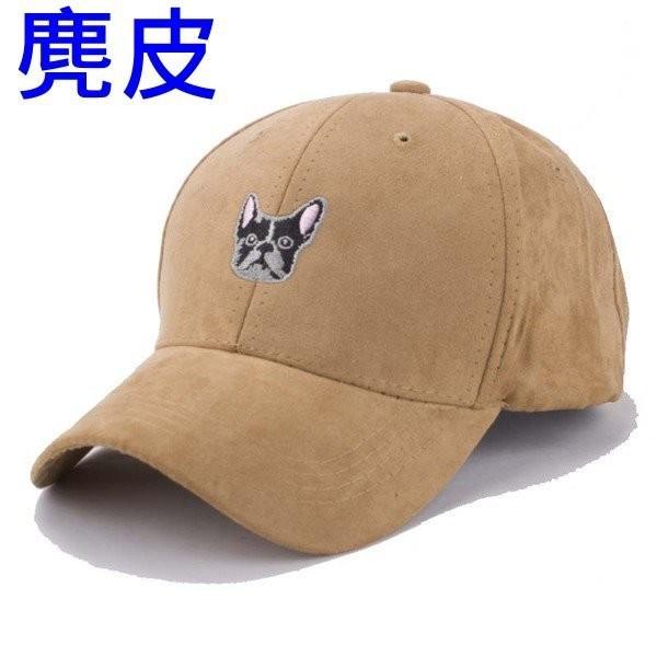 韓國 人造麂皮 可愛狗狗卡通刺繡小狗棒球帽彎帽鴨舌帽老帽高爾夫球帽子K671