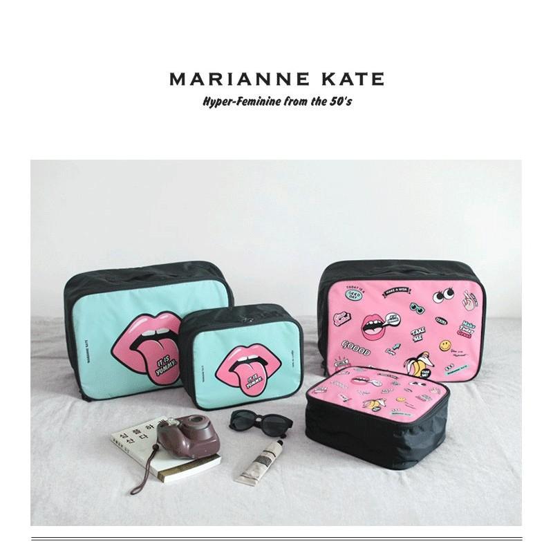 手繪化妝箱旅行袋可套行李拉桿