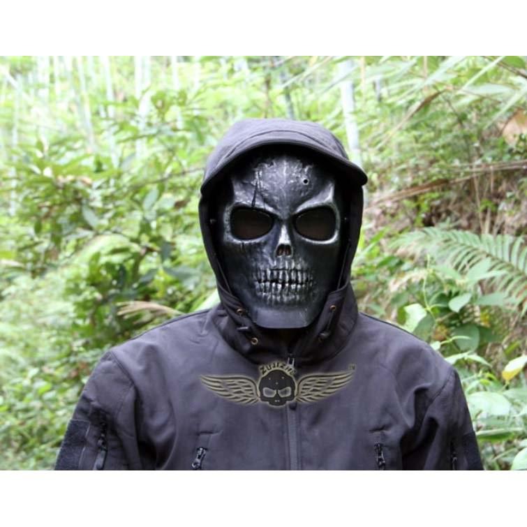 笨笨小舖骷髏CS 防護面具收藏電影道具野戰面具面罩生存遊戲野外求生CS 恐怖面具化妝舞會萬