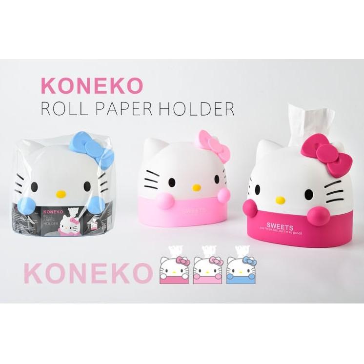 DY888 Hello Kitty 凱蒂貓紙巾筒 可愛捲紙筒衛生間客廳廁所家用塑料紙巾筒