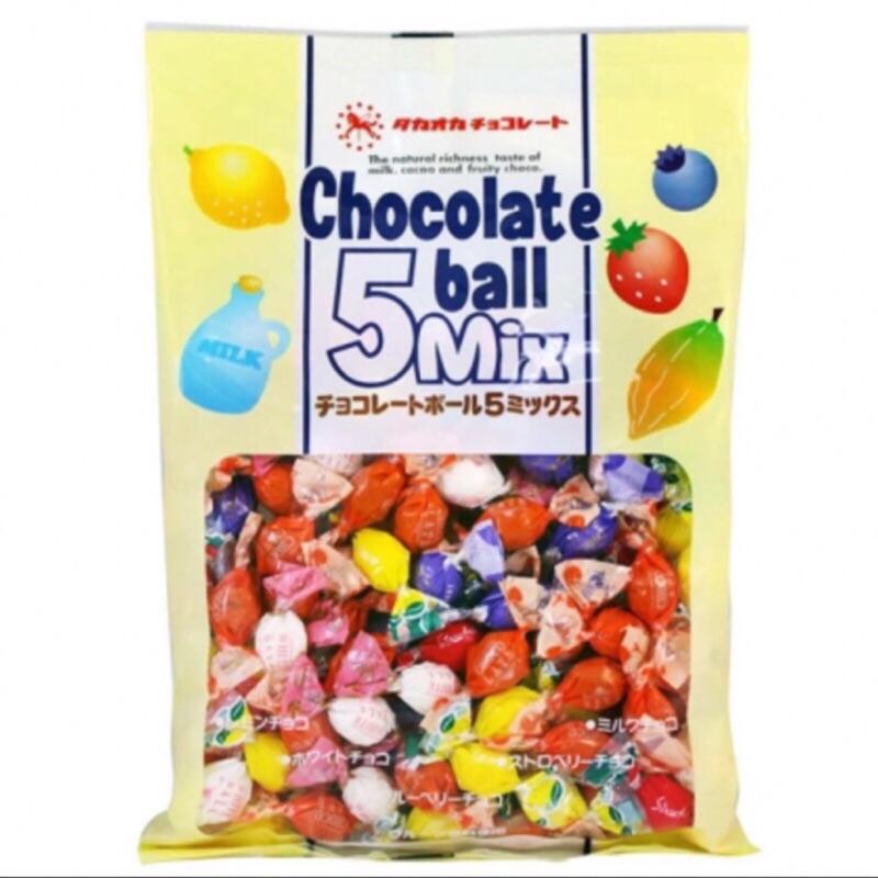 ~ ~ 高岡五種口味巧克力球5mix 巧克力球155g 藍莓草莓牛奶檸檬白巧克力