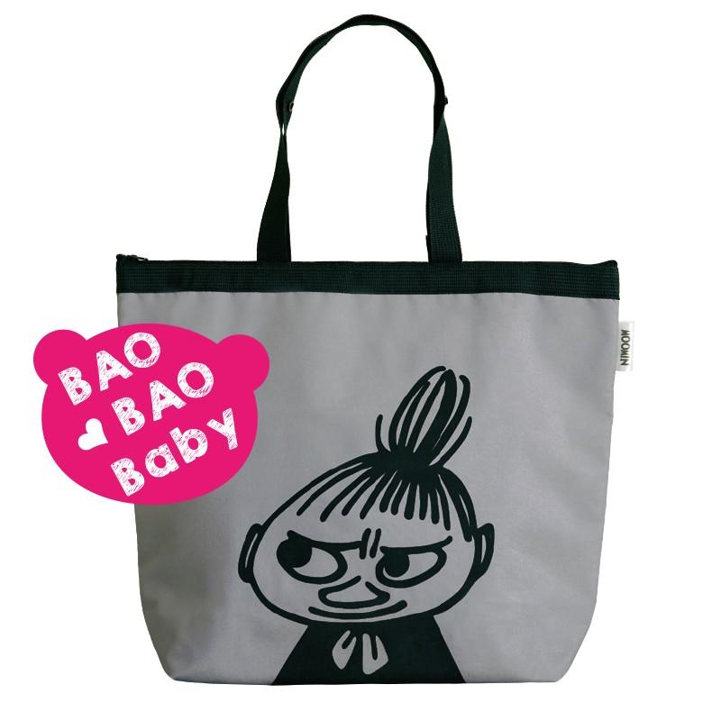 MOOMIN 亞美折疊式保冷袋保溫袋保鮮袋便當袋媽媽包托特包肩背包手提包米妮小不點