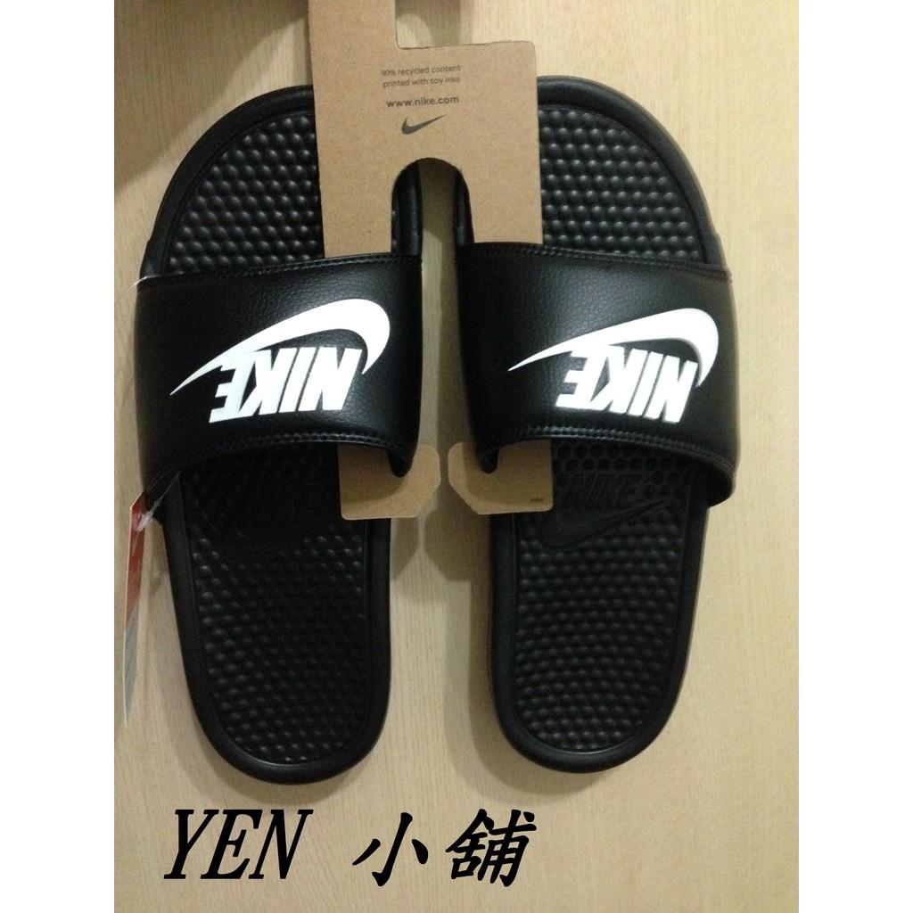 ~YEN 小舖~NIKE BENASSI JDI 拖鞋黑白LOGO GD 拖鞋343880