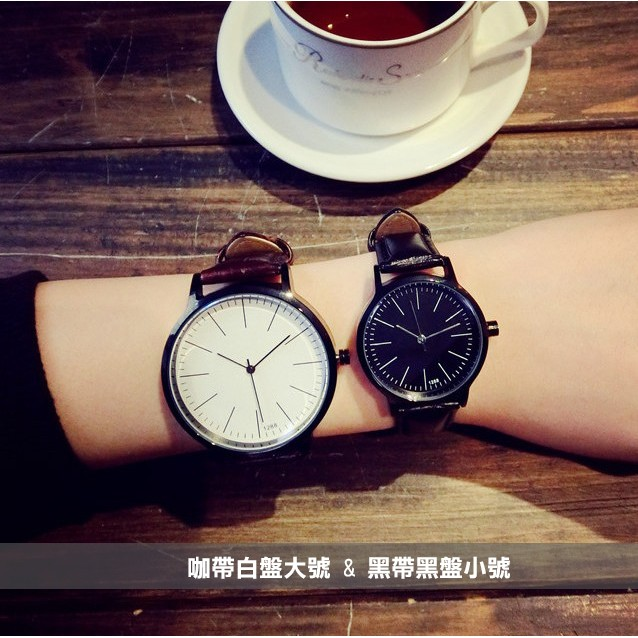 復古皮革 潮流簡約男女對錶情侶手錶