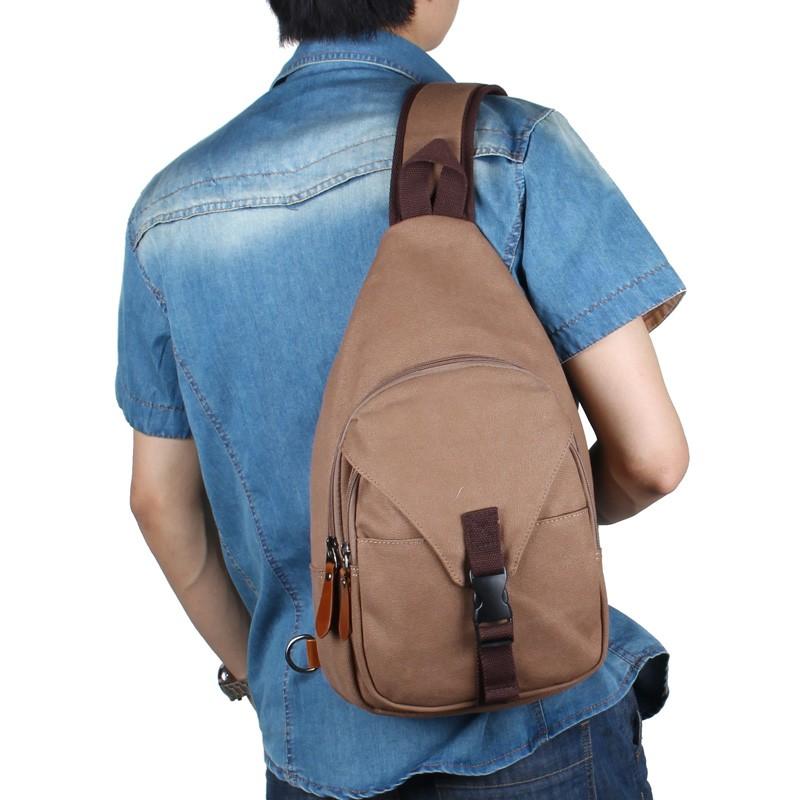 男包大胸包 包斜挎包 潮包帆布包男士騎行包包