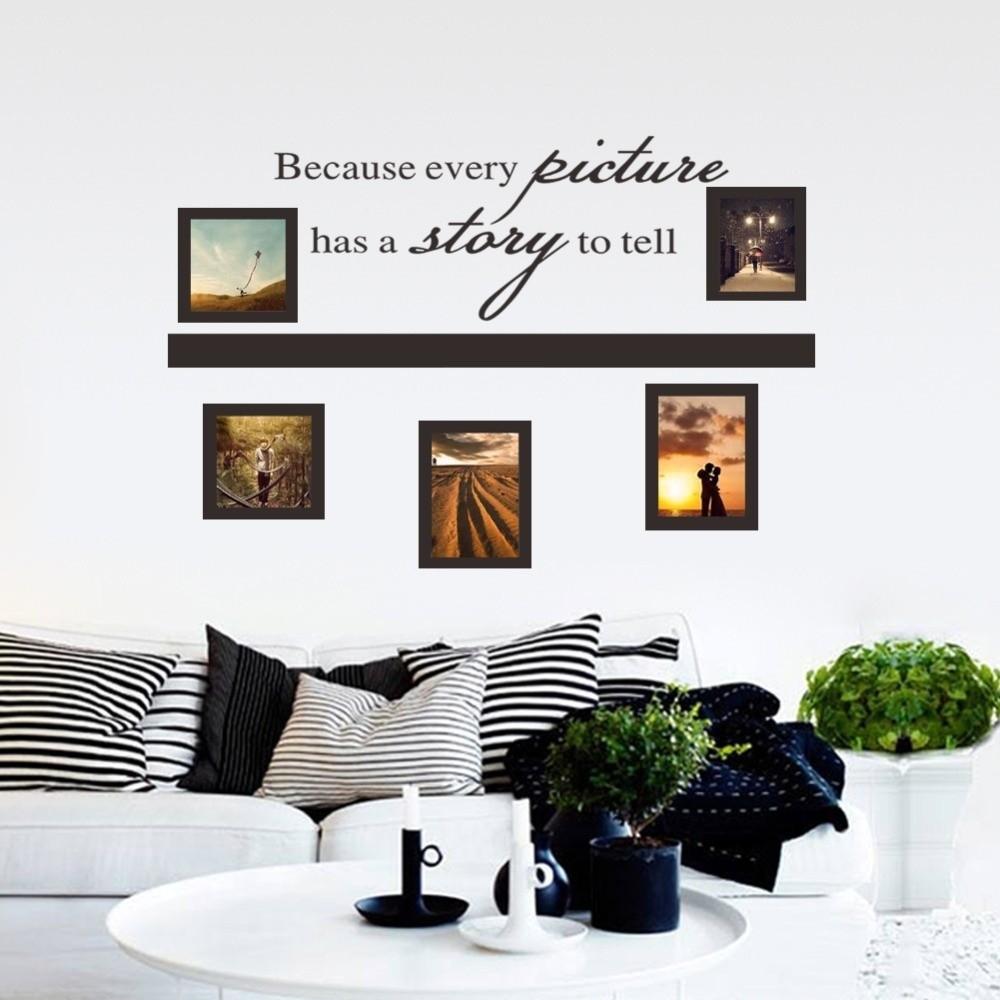46 ×80cm 因為每一張照片都有一個故事到房間的裝飾藝術貼花藝術牆貼家乙烯可客廳臥室